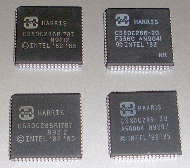 Picture of: vintage harris 80286 286 cpu chip processor lot and tech talk, comments, help & reviews.