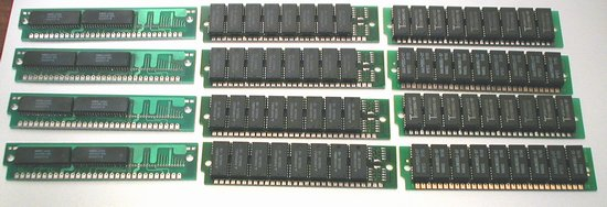 Picture of: 1 mb 30 pin simm memory modules, 12mb 12 x 1mb lot  and tech talk, comments, help & reviews.
