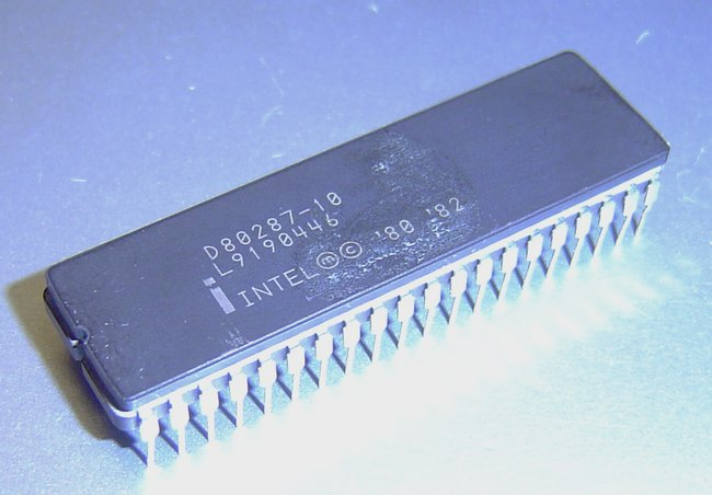 Picture of: d80287-10 intel unique collectible cerdip 80287-10 uos ceramic math coprocessor and tech talk, comments, help & reviews.