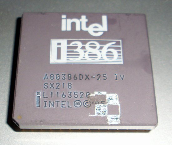 Picture of: rare intel a80386dx-25 iv 386dx-25 sx218 25mhz 386 and tech talk, comments, help & reviews.