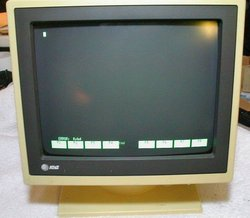 Picture of: monochrome terminal (green) att 605 (at&t) / att605 and tech talk, comments, help & reviews.