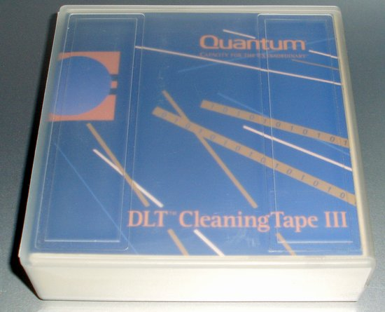 Picture of: quantum thxhc-02 dlt iii/iiixt/iv 20-pass cleaning cartridge and tech talk, comments, help & reviews.
