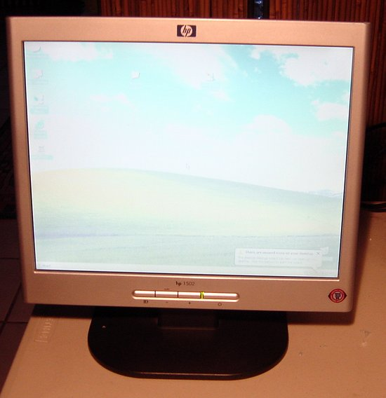 Picture of: hp 1502 15-inch lcd color monitor flat screen tft and tech talk, comments, help & reviews.