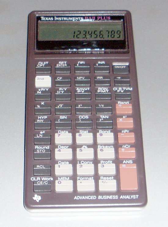Picture of: texas instruments ti baii plus advanced business analyst calculator and tech talk, comments, help & reviews.