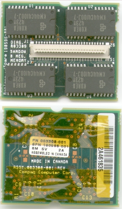 Picture of: compaq contura aero 8 mb laptop memory module and tech talk, comments, help & reviews.