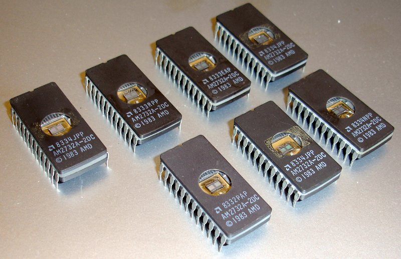 Picture of: lot of 7 vintage 4k x 8 eprom am2732a amd 2732 erased and tech talk, comments, help & reviews.