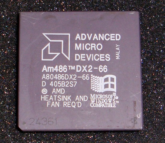 Picture of: amd 80486 dx2 66mhz 486 cpu processor and tech talk, comments, help & reviews.
