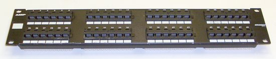 Picture of: amp 48 port cat5 rj45 patch panel p/n: 557872-1 and tech talk, comments, help & reviews.