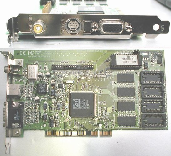 Picture of: ati rage ii ntsc pci vga video card s-video composite output p/n 109-38500-00 and tech talk, comments, help & reviews.