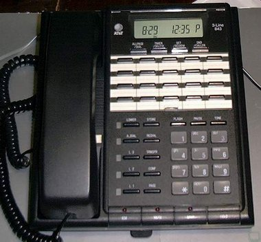 Picture of: 3-line speakerphone at&t phone system att-843 corded and tech talk, comments, help & reviews.