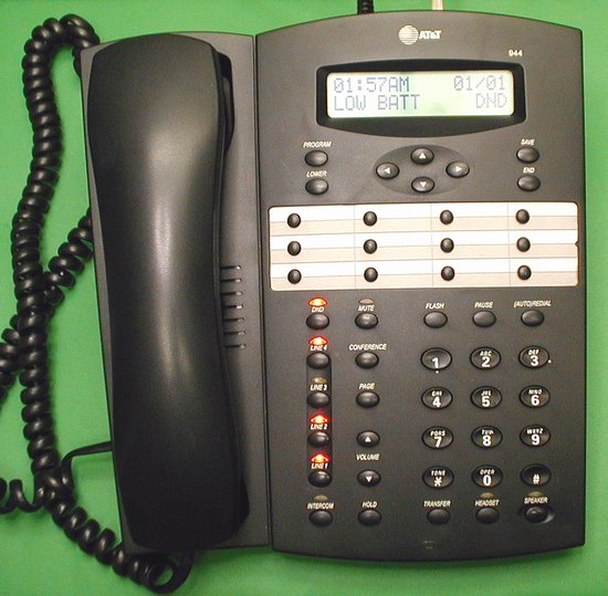Picture of: at&t 944 4-line business speaker phone intercom att and tech talk, comments, help & reviews.