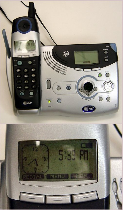 Picture of: at&t 5840 5.8 ghz cordless telephone answering system and tech talk, comments, help & reviews.
