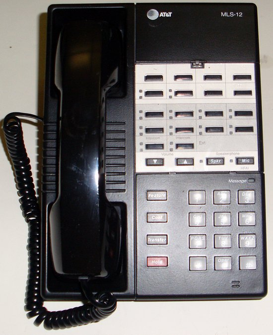 Picture of: at&t mls-12 mls12 avaya partner phone black att telephone and tech talk, comments, help & reviews.