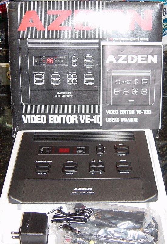 Picture of: azden ve-100 video editor / effects and tech talk, comments, help & reviews.