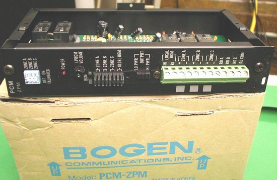 Picture of: bogen pcmzpm zone page module for pcm2000 systems model; bogen pcm-zpm and tech talk, comments, help & reviews.