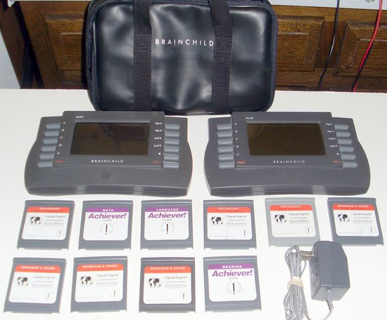 Picture of: brainchild pls1000 personal learning system lot of two pls-1000 with 10 cartridges  and tech talk, comments, help & reviews.