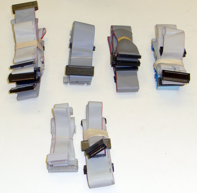 Computer Ribbon Cable : Computer ribbon cables lot floppy hard disk drive rll