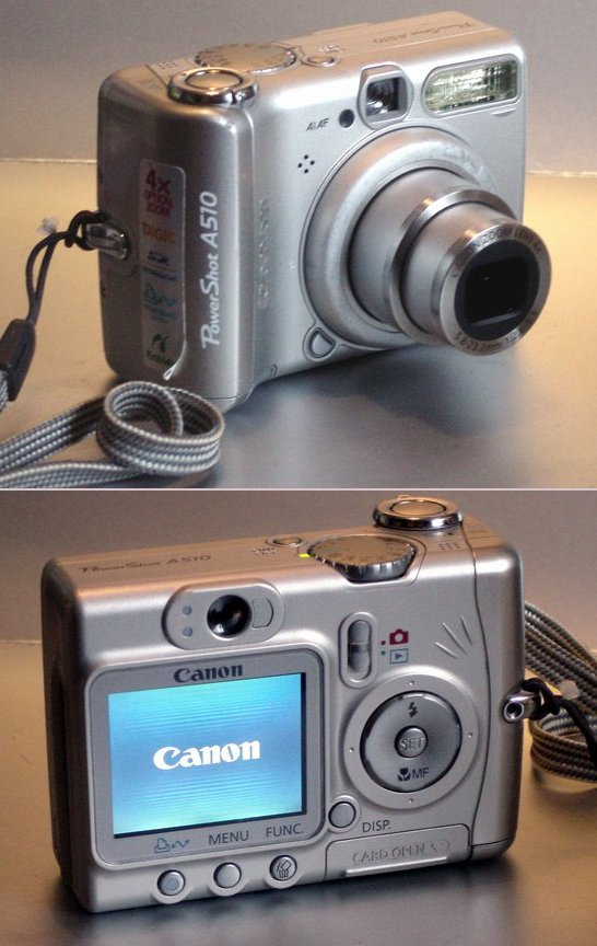 Picture of: canon powershot a510 3.2mp digital camera w/ 4x zoom  and tech talk, comments, help & reviews.