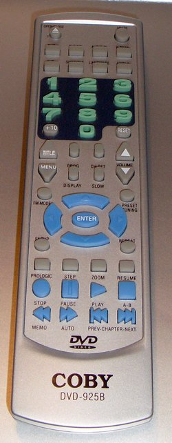 Picture of: coby dvd-925b remote control for 925 b home theater surround system  and tech talk, comments, help & reviews.