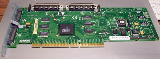 Picture of: compaq proliant 64-bit dual channel wide ultra-2 scsi adapter p/n: 348759-001 and tech talk, comments, help & reviews.