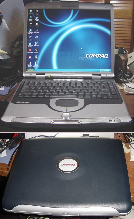 Picture of: compaq presario 700 model 700us, 900 mhz amd duron, 20gb hd,, 256mb ram, 14 in tft original win xp home and tech talk, comments, help & reviews.