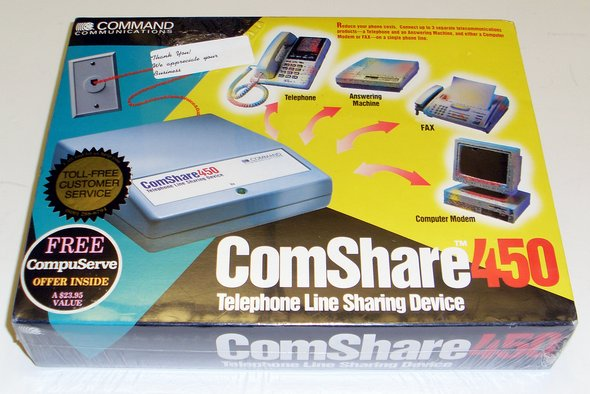 Picture of: telephone line sharing device comshare-450  and tech talk, comments, help & reviews.