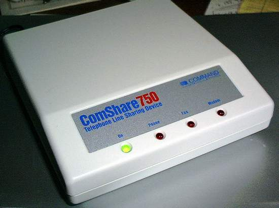 Picture of: telephone line sharing device comshare-750 and tech talk, comments, help & reviews.