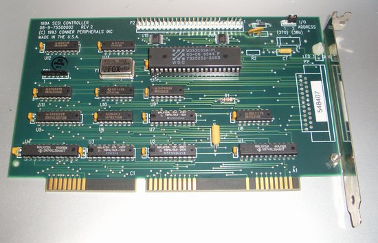 Picture of: conner peripherals 16bit bootable scsi card 16 bit 08-9-75500002 and tech talk, comments, help & reviews.
