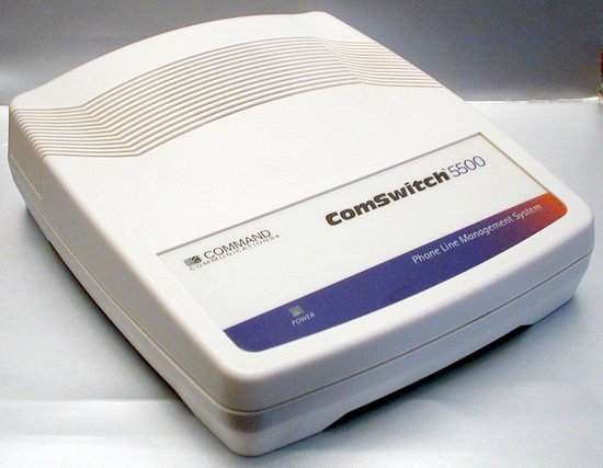 Picture of: telephone line sharing device comswitch 5500 fax voice modem switch and tech talk, comments, help & reviews.