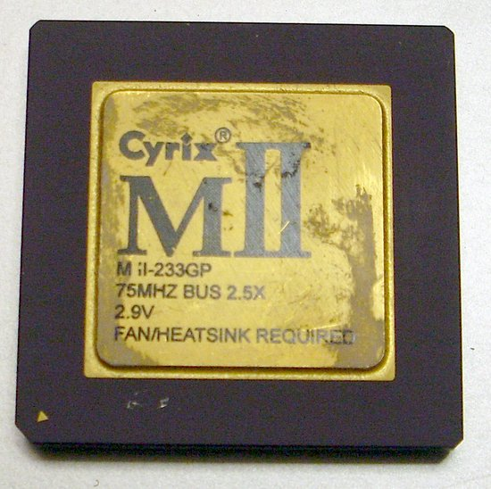 Picture of: cyrix mii gold cpu 233gp processor metal recovery and tech talk, comments, help & reviews.
