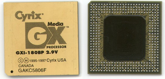 Picture of: pentium grade processors cyrix media gx gxi-180bp 2.9v - mediagx and tech talk, comments, help & reviews.