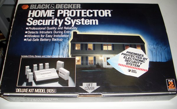 Picture of: black & decker home protector wireless security system alarm model 9105 and tech talk, comments, help & reviews.