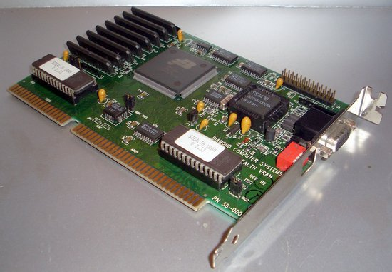 Picture of: very rare diamond stealth 1mb isa video card vga 16bit and tech talk, comments, help & reviews.