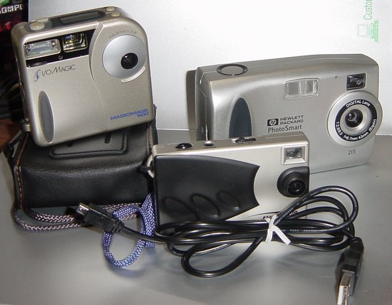 Picture of: hp hewlett packard photosmart 215, magicimage 410, i/o magic 500, digital camera lot and tech talk, comments, help & reviews.
