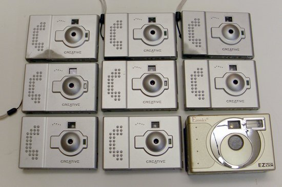 Picture of: lot of 9 digital cameras as-is, untested creative, ez mega cam and tech talk, comments, help & reviews.