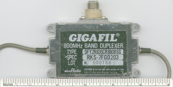 Picture of: duplexer 800mhz band uhf gigafil murata and tech talk, comments, help & reviews.