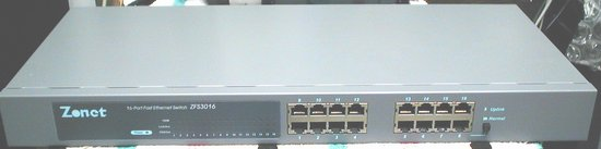 Picture of:  zonet zfs3016 fast ethernet 10/100 switch 16-port and tech talk, comments, help & reviews.