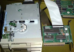 Picture of: floppy disk drive 1.2mb 5 1/4 - 5.25 - with 8-bit controller (rare) and tech talk, comments, help & reviews.