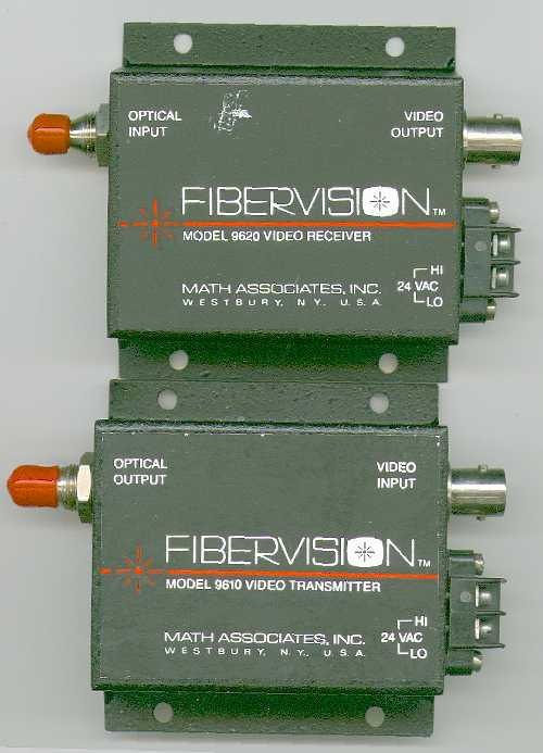 Picture of: fiber optic video link fibervision  (math associates inc.)  and tech talk, comments, help & reviews.