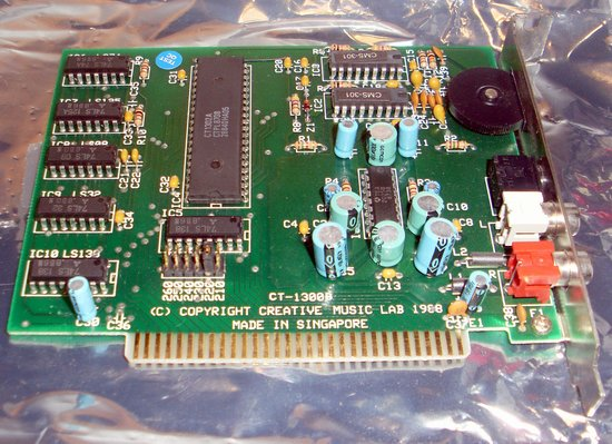 Picture of: vintage creative music lab ct1300 game blaster, before sound blaster, ct-1300 and tech talk, comments, help & reviews.