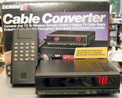 Picture of: gemini ad6000 catv converter cable box and tech talk, comments, help & reviews.
