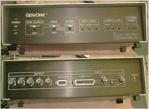 Picture of: amiga computers genlock (communications specialties gen/one)  and tech talk, comments, help & reviews.