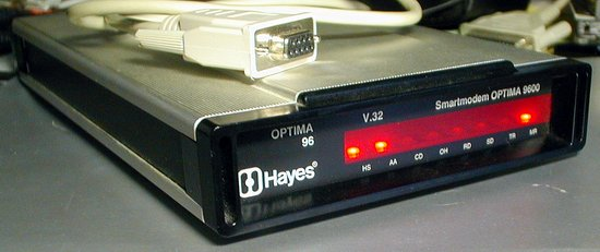 Picture of: hayes smartmodem optima 9600 v.32 vintage modem 5110am and tech talk, comments, help & reviews.