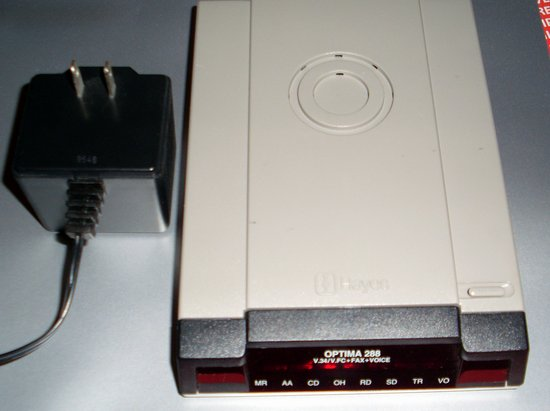 Picture of: hayes optima 28.8 external modem and tech talk, comments, help & reviews.