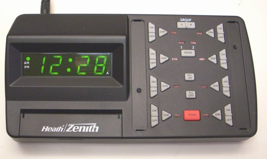 Picture of: heath zenith whole house programmable lighting control panel, model# rh-6007-tx  and tech talk, comments, help & reviews.