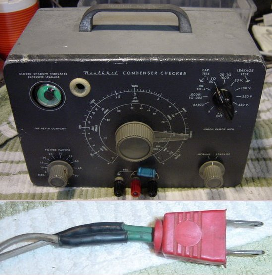 Picture of: heathkit condenser checker capacitor tester vintage collectible and tech talk, comments, help & reviews.