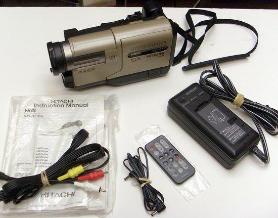 hitachi video camera. picture of: hitachi ultravision vm-h710a hi8 8mm video camcorder image stabilized and tech camera