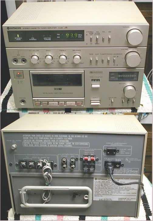 Picture of: vintage hitachi stereo receiver cassette recorder amplifier and tech talk, comments, help & reviews.