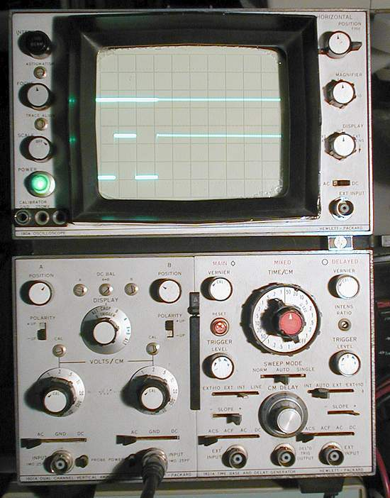 Picture of: hp 180a oscilloscope, 1801a vertical amp, 1821a time base generator and tech talk, comments, help & reviews.
