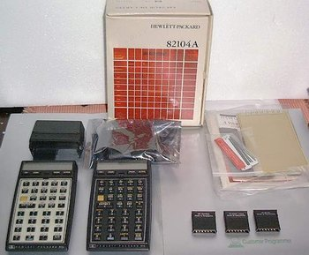 Picture of: hewlett packard hp41c scientific calculator - card reader - modules  and tech talk, comments, help & reviews.